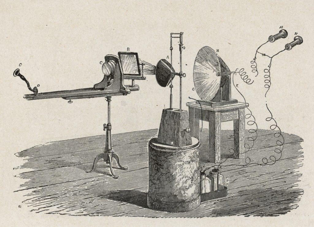 Alexander Graham Bell's 1800 photophone.