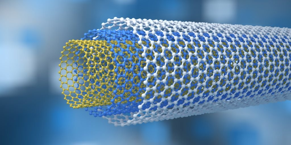 Carbon nanotubes render.