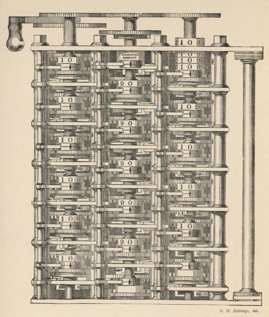 Charles Babbage's difference engine.