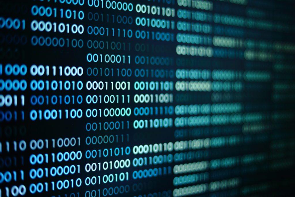 Computer binary codes, digital concept.