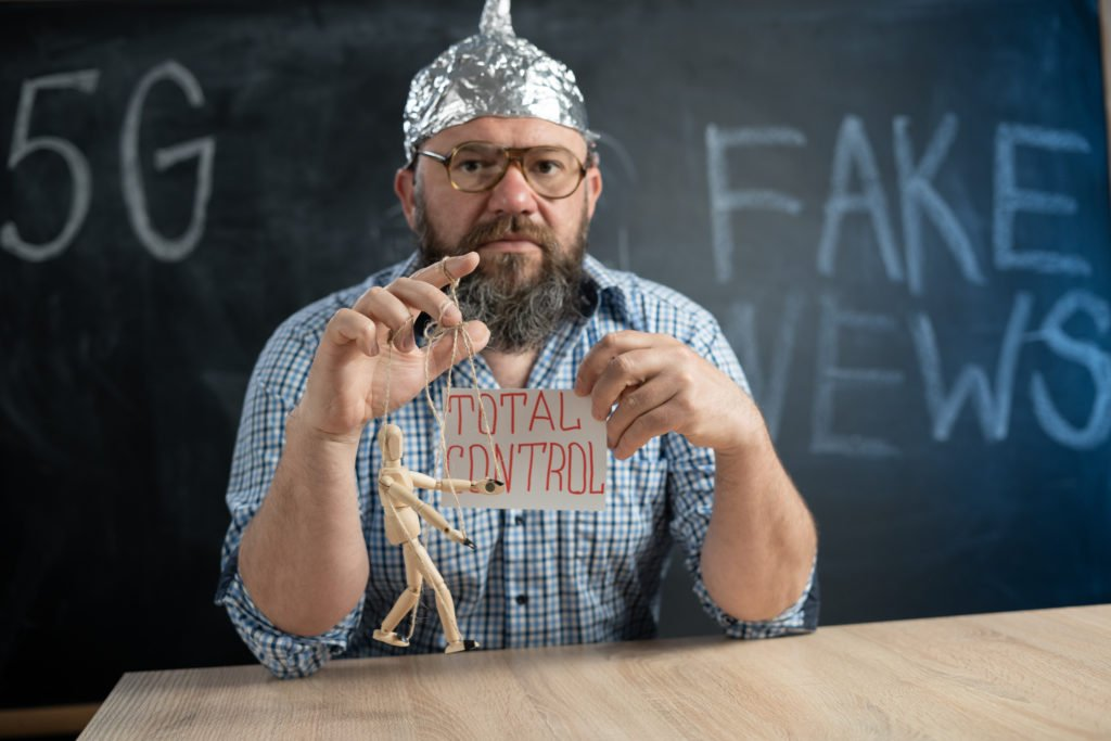 Conspiracy theorist in a foil hat.
