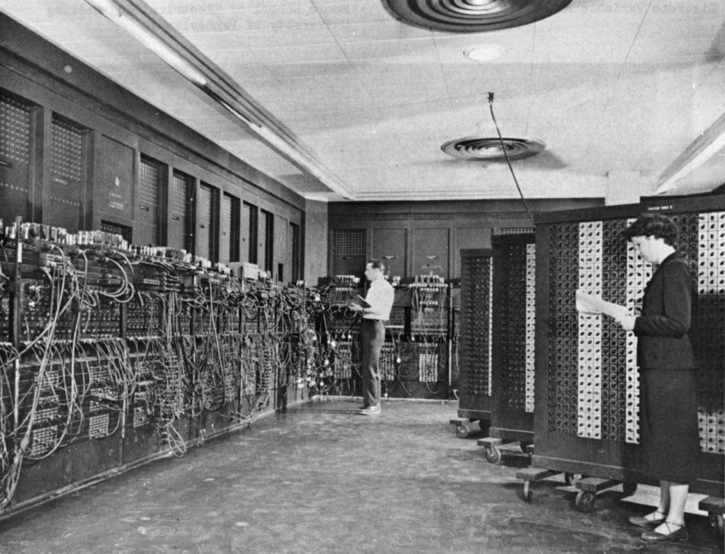 Historic picture of the ENIAC machine.