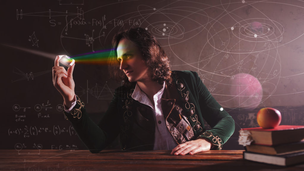The concept of scientific history: Isaac Newton and physics.
