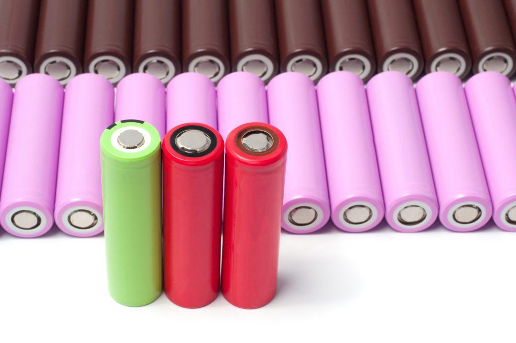 Lithium-ion 18650 batteries.