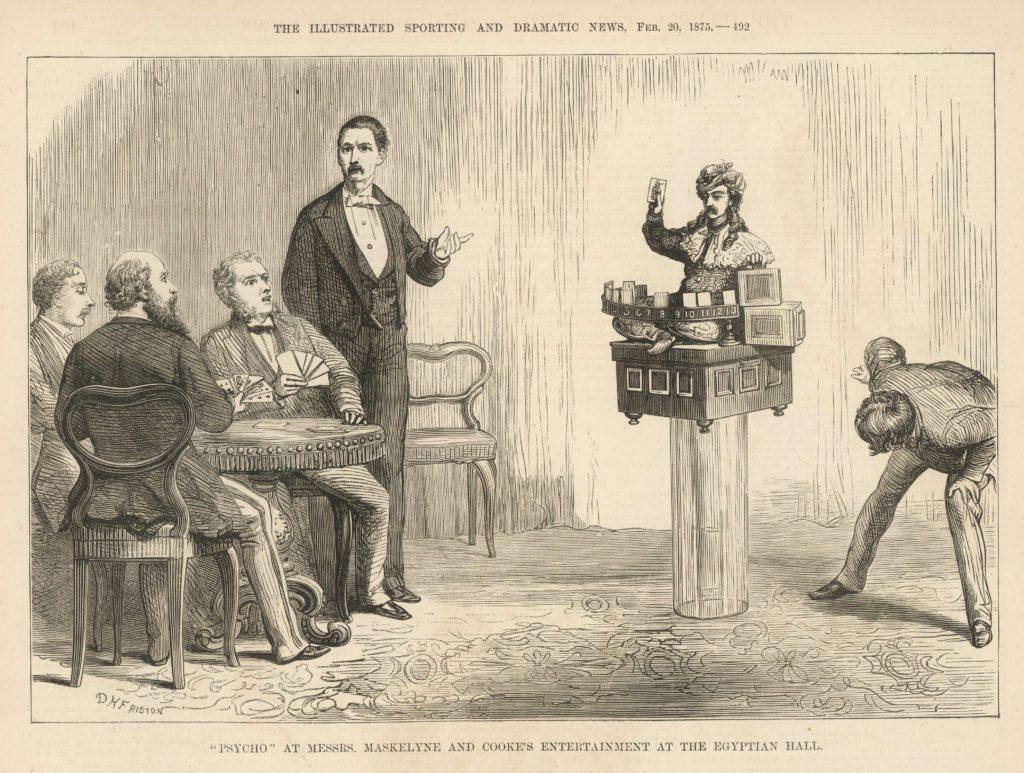 Maskelyne-Cook's 1875 automaton, Psycho.
