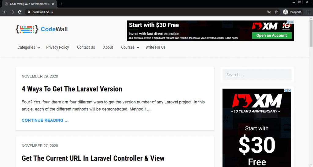 Screenshot of the CodeWall computer science blog