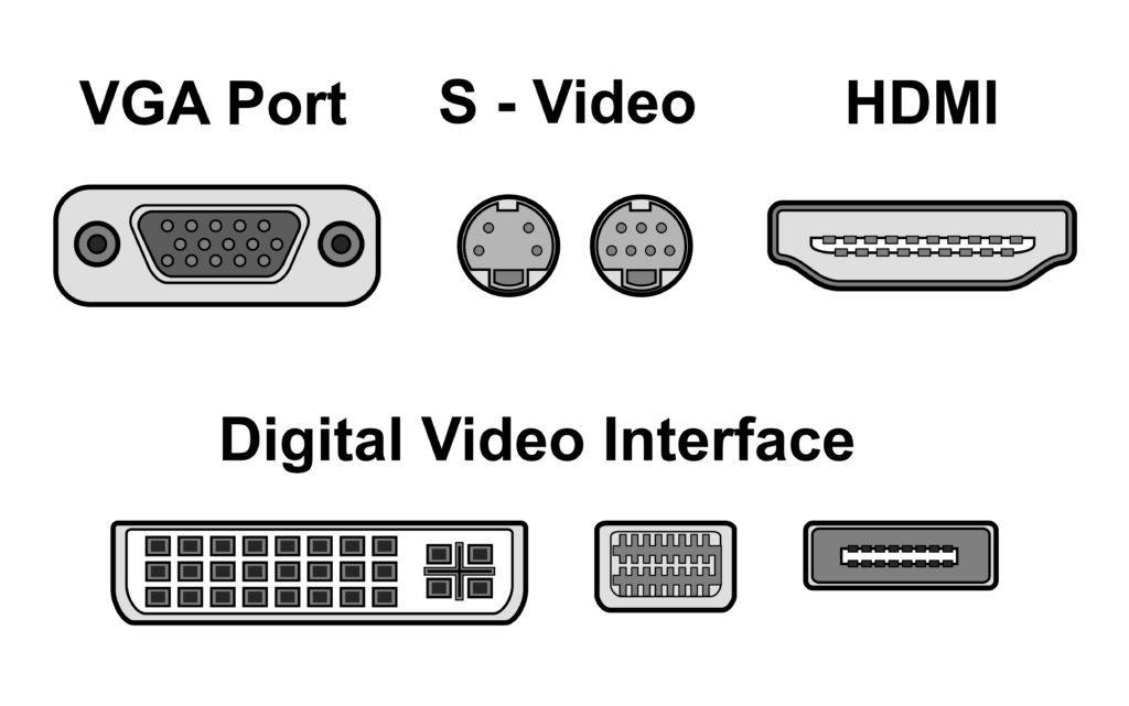 Video ports vector illustration.