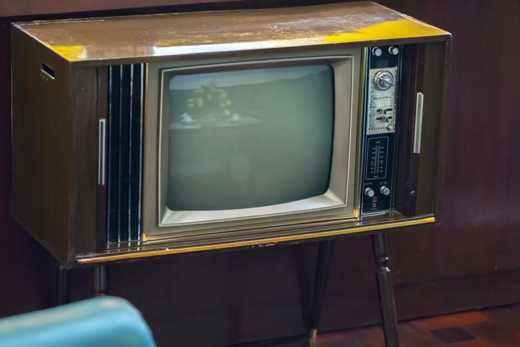 Vintage 1950s television.