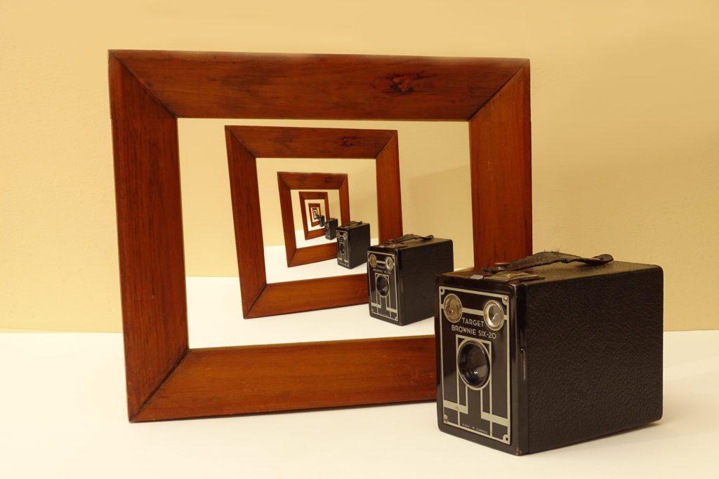 Vintage brownie camera.