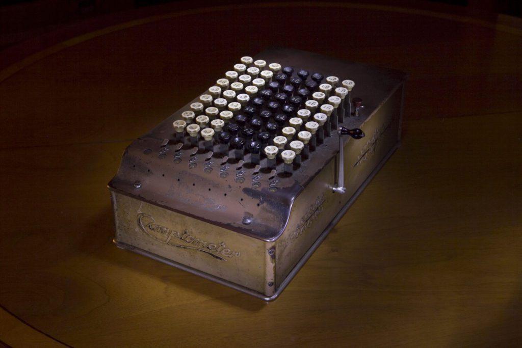 Vintage comptometer.