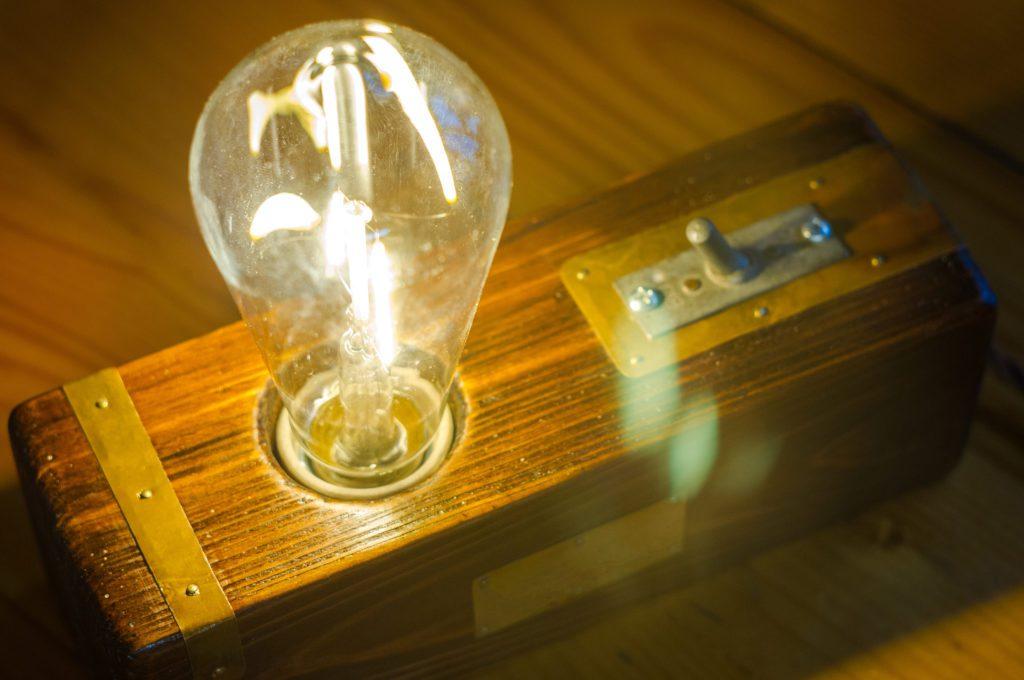 Vintage light fixture.
